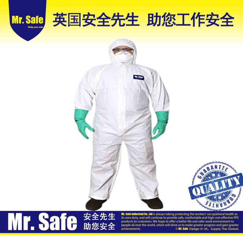 C1一次性连体服透气膜防护服隔离服